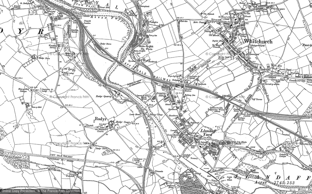 Old Map of Whitchurch, 1915 in 1915
