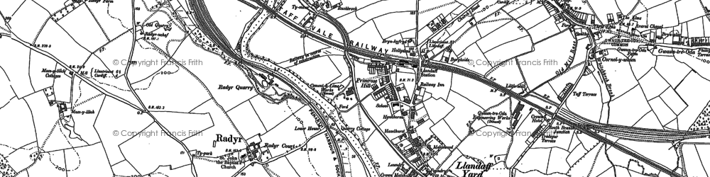 Old map of Whitchurch in 1915