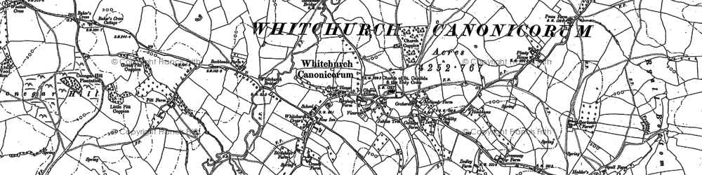 Old map of Whitchurch Canonicorum in 1887