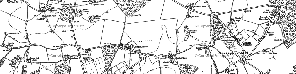 Old map of Whitchurch Hill in 1910