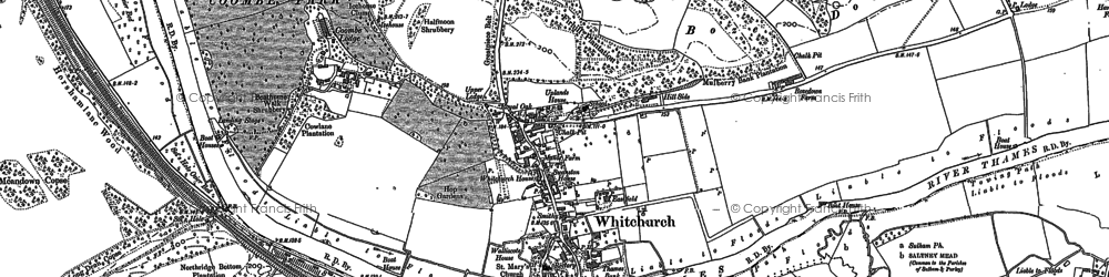 Old map of Whitchurch-on-Thames in 1910