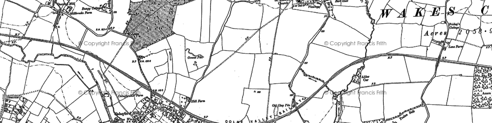 Old map of White Colne in 1896