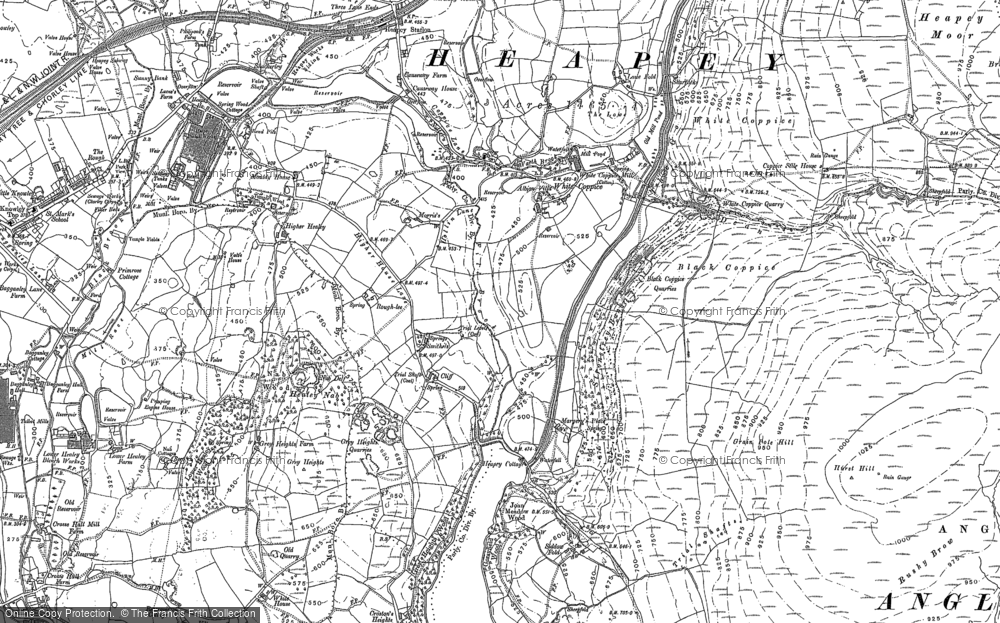 Old Map of Historic Map covering Limbrick in 1892