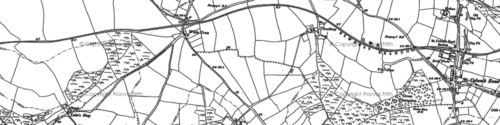 Old map of White Cross in 1879
