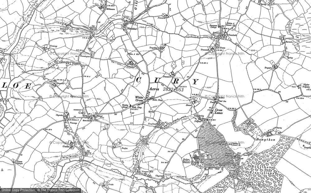 Old Map of White Cross, 1906 in 1906