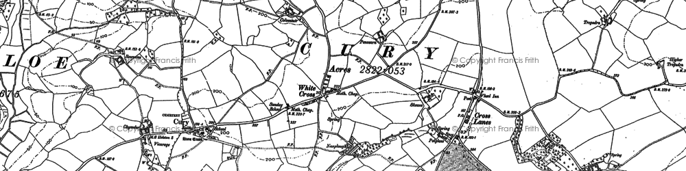 Old map of White Cross in 1906