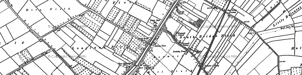 Old map of White Hall in 1900