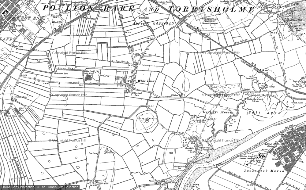 Old Map of White Lund, 1910 - 1911 in 1910