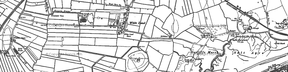 Old map of White Lund in 1910