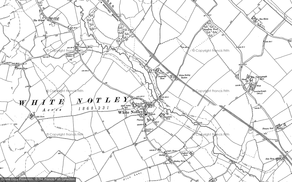Map of White Notley, 1895 - 1896