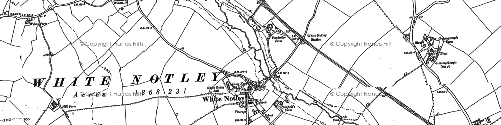 Old map of White Notley in 1895