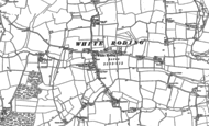 Old Map of White Roding, 1895