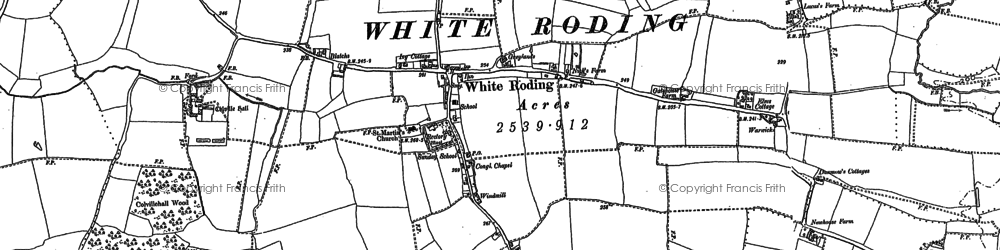 Old map of White Roothing in 1895