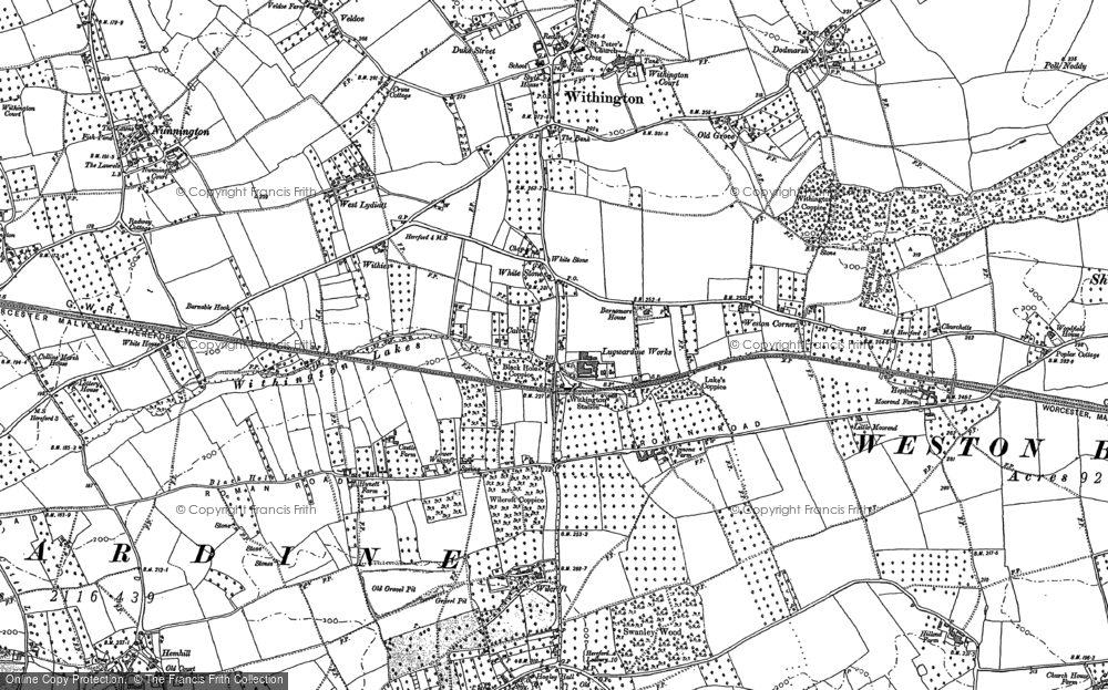 Old Map of White Stone, 1886 in 1886