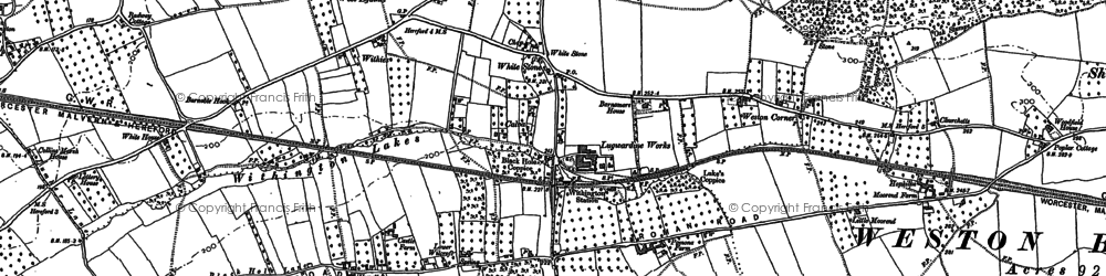 Old map of White Stone in 1886