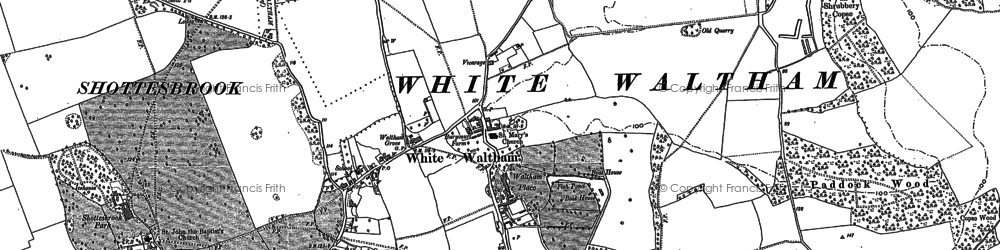 Old map of Woodlands Park in 1910