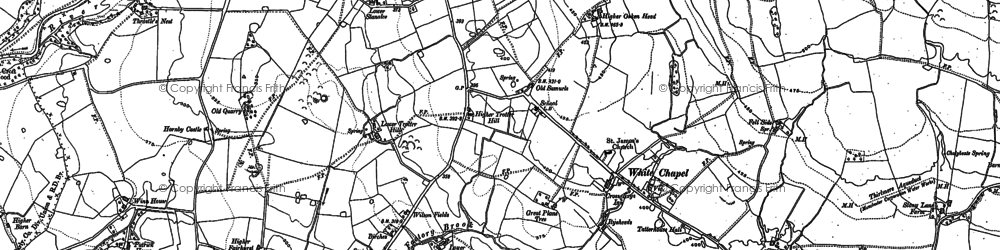 Old map of Wood Fold in 1910
