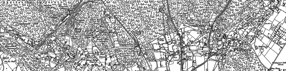 Old map of Whitecroft in 1880