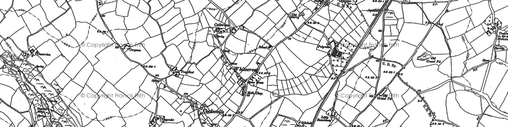 Old map of Whitecross in 1877