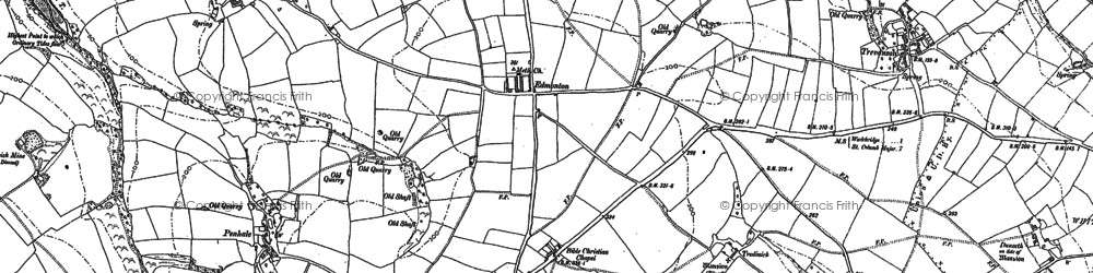 Old map of Whitecross in 1880