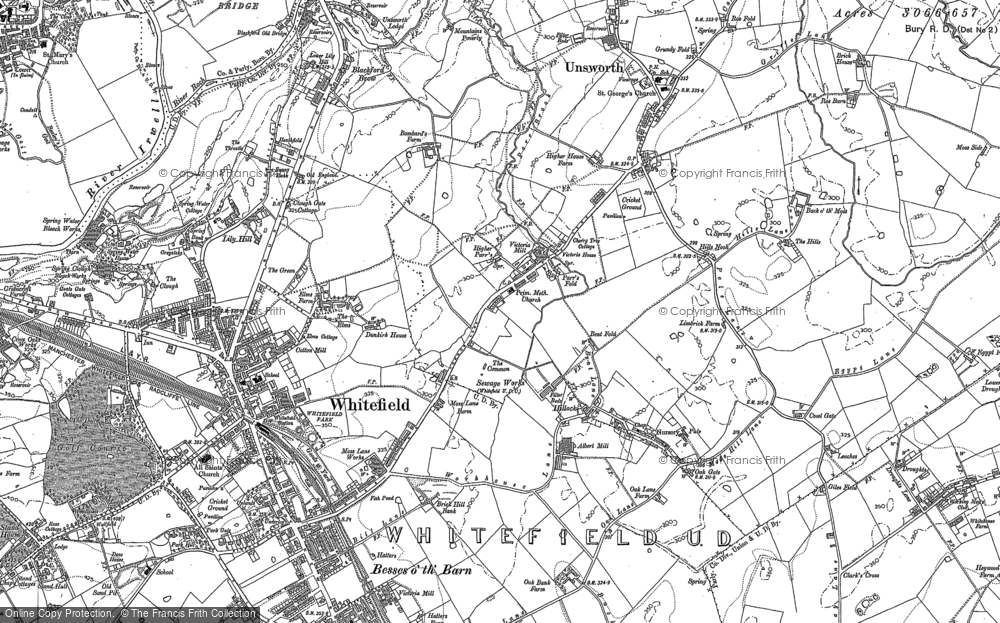 Map of Whitefield, 1891