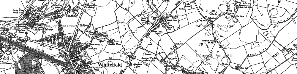 Old map of Whitefield in 1891
