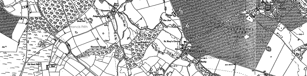Old map of Whitegate in 1897