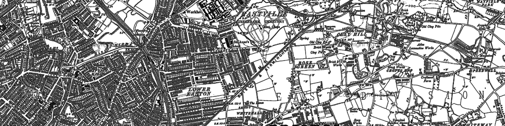 Old map of Whitehall in 1902