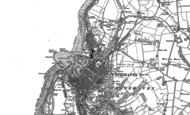 Old Map of Whitehaven, 1923