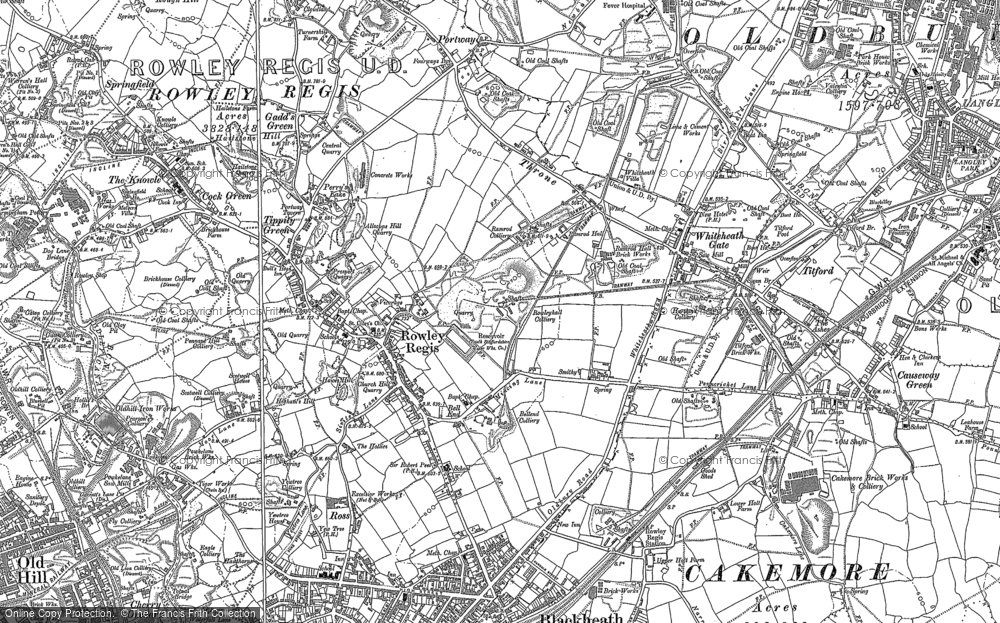 Old Map of Whiteheath Gate, 1901 - 1902 in 1901