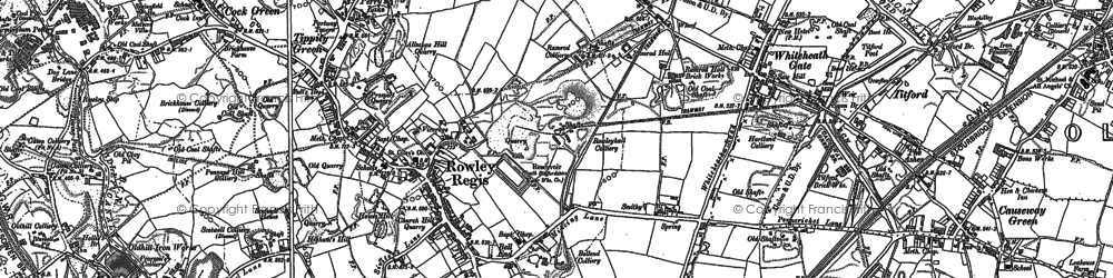 Old map of Whiteheath Gate in 1901