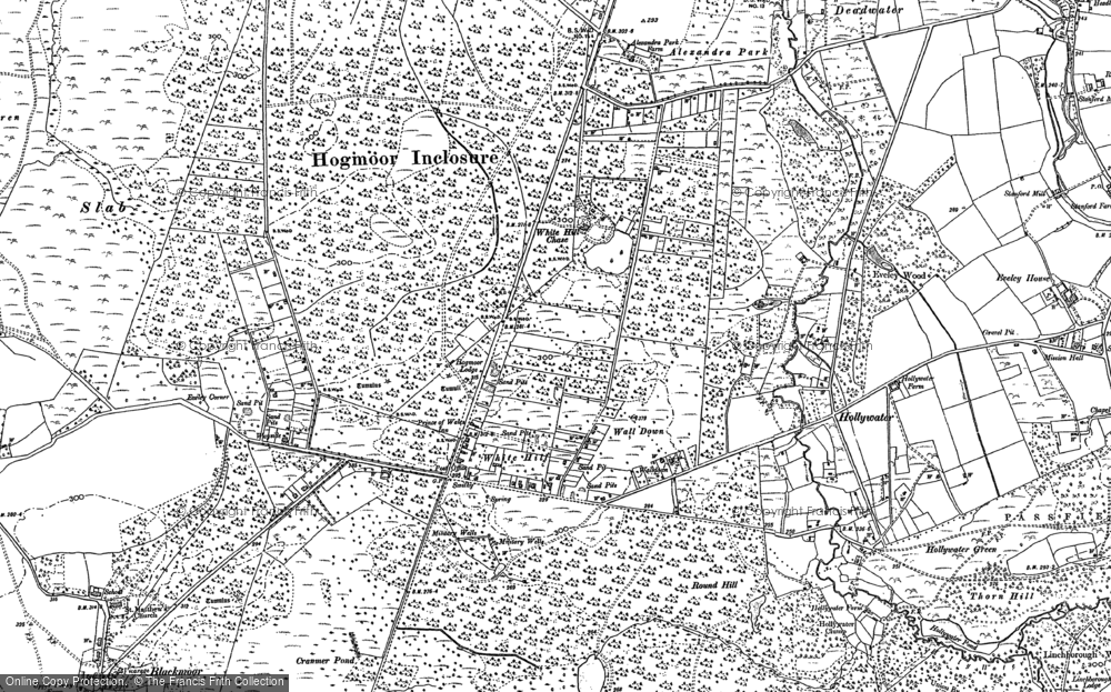 Old Map of Whitehill, 1909 in 1909