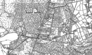 Old Map of Whitehill, 1909