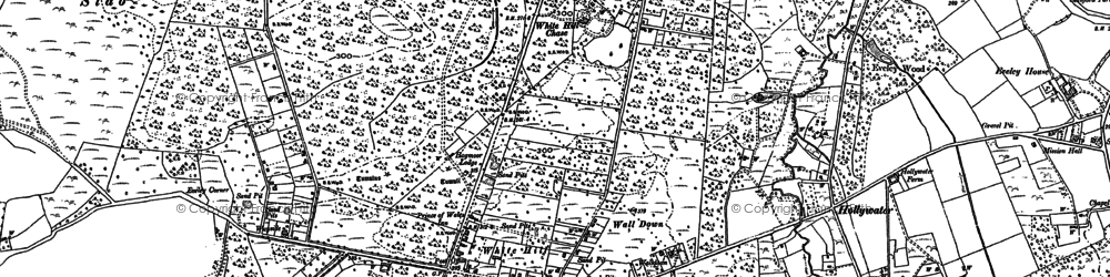 Old map of Whitehill in 1909