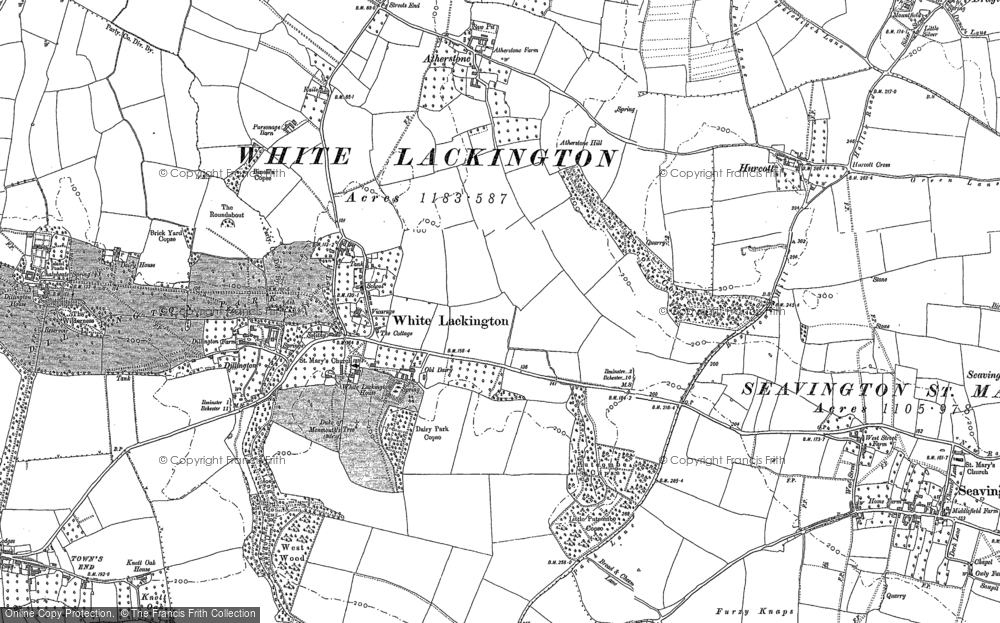 Old Map of Historic Map covering Atherstone in 1886