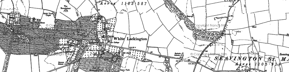 Old map of Atherstone in 1886