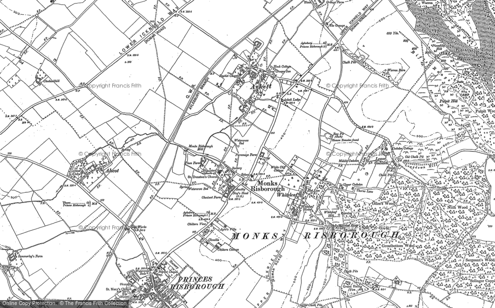 Old Map of Whiteleaf, 1897 in 1897