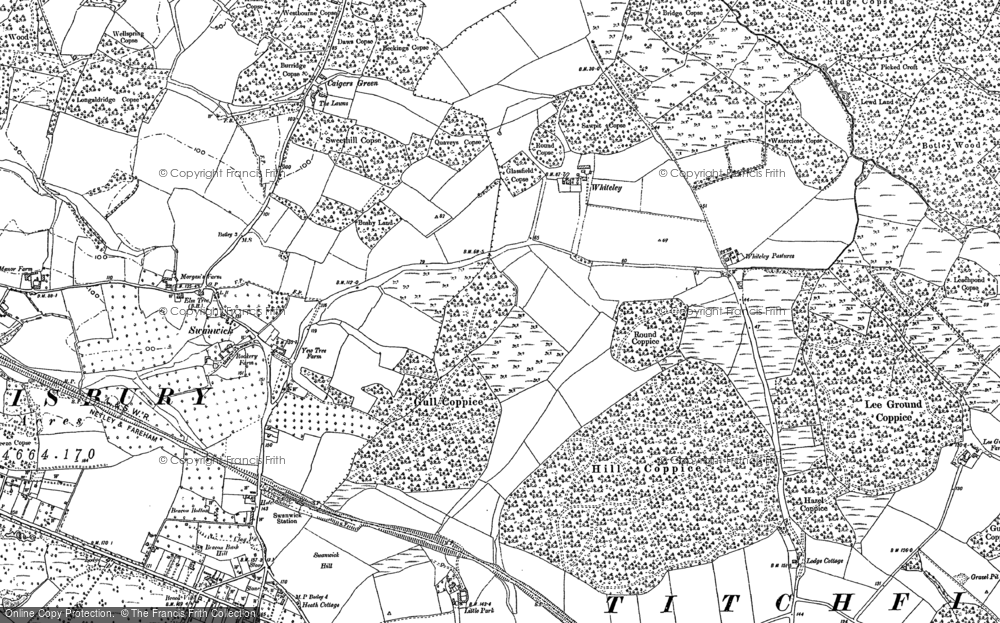 Old Map of Whiteley, 1895 - 1896 in 1895