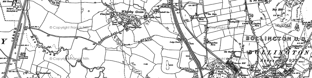 Old map of Adlington in 1896