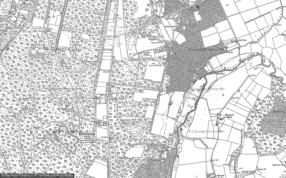 Old Map of Whiteley Village, 1895 in 1895