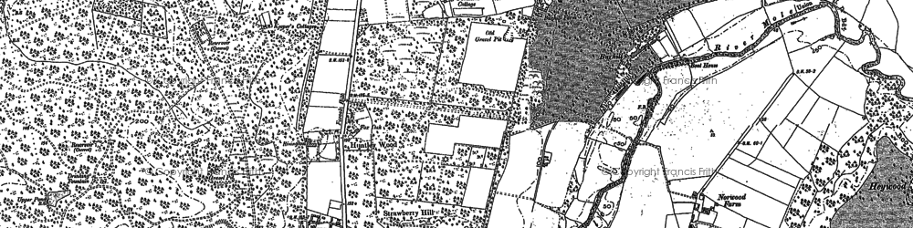 Old map of Whiteley Village in 1895