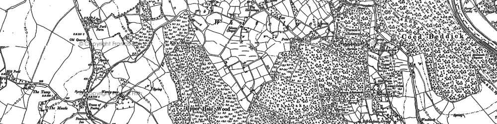 Old map of Whitelye in 1900