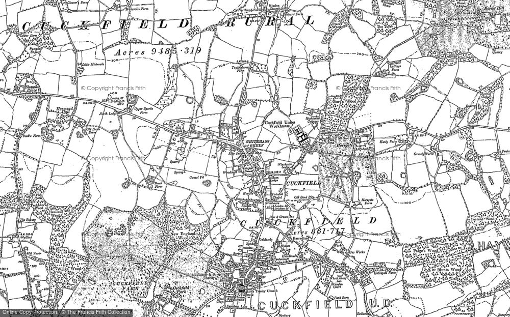 Old Map of Whitemans Green, 1896 in 1896