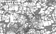 Old Map of Whitemans Green, 1896
