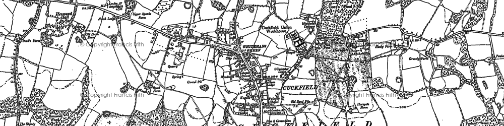 Old map of Whitemans Green in 1896