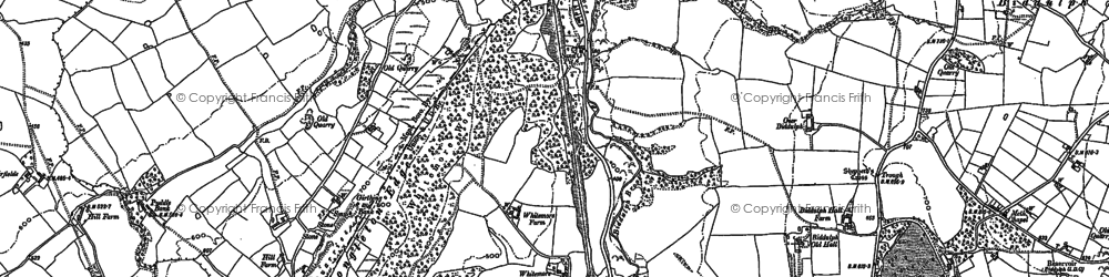 Old map of Whitemoor in 1878
