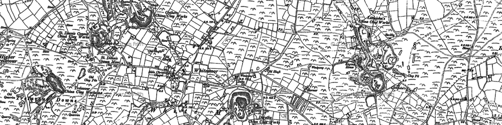Old map of Whitemoor in 1879
