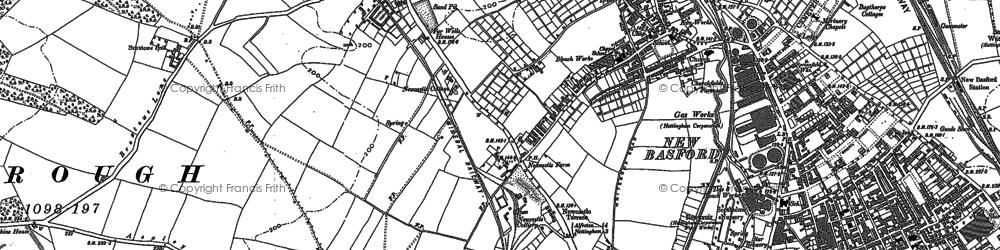 Old map of Aspley in 1881
