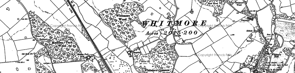 Old map of Woodhouse in 1879