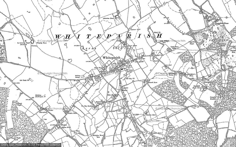 Map of Whiteparish, 1908